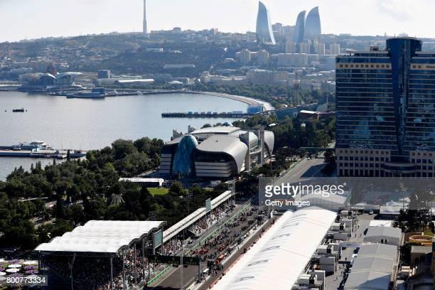 A general view of the grid before the Azerbaijan Formula One Grand Prix at Baku City Circuit on June 25 2017 in Baku Azerbaijan