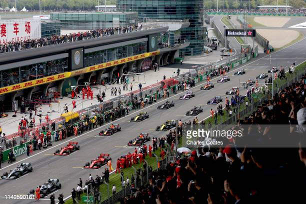 A general view of the grid before the F1 Grand Prix of China at Shanghai International Circuit on April 14 2019 in Shanghai China