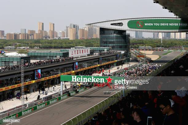 A general view of the grid before the Formula One Grand Prix of China at Shanghai International Circuit on April 15 2018 in Shanghai China