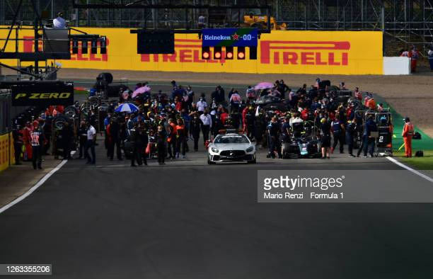 General view of the grid before the sprint race for the Formula 2 Championship at Silverstone on August 02, 2020 in Northampton, England.