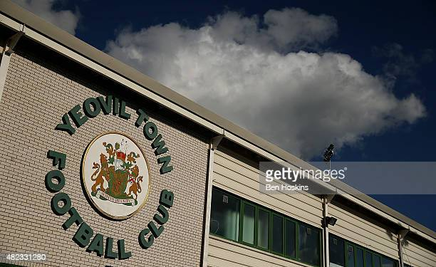 A general view of the ground ahea of a Pre Season Friendly between Yeovil Town and AFC Bournemouth at Huish Park on July 28 2015 in Yeovil England
