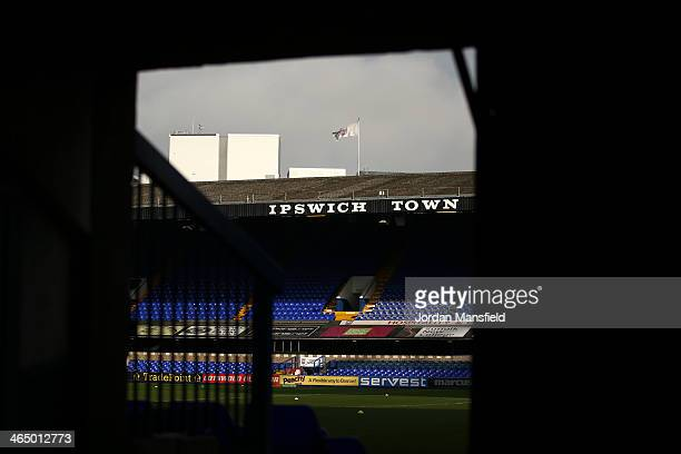 A general view of the ground ahead of the Sky Bet Championship match between Ipswich Town and Reading at Portman Road on January 25 2014 in Ipswich...