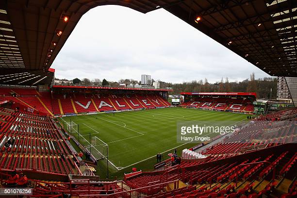 A general view of the ground ahead of the Sky Bet Championship match between Charlton Athletic and Leeds United at The Valley on December 12 2015 in...
