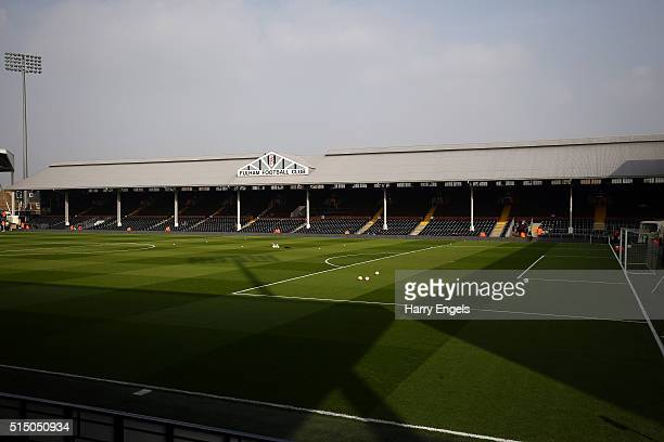 A general view of the ground ahead of the Sky Bet Championship match between Fulham and Bristol City at Craven Cottage on March 12 2016 in London...