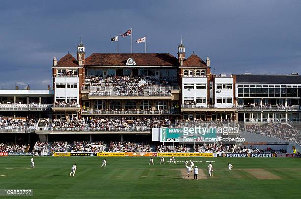 General view of the ground and pavilion during the 3rd Test Match between England and Pakistan at the Kennington Oval in London, 26th August 1996....