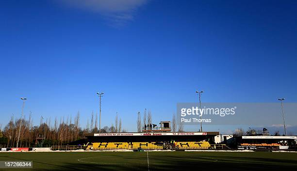 General view of the ground before the FA Cup second round match between Harrogate Town and Hastings United at the CNG Stadium on December 1, 2012 in...