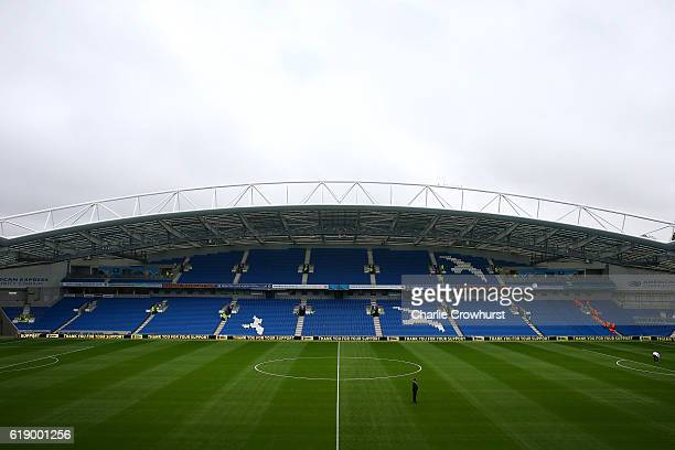 A general view of the ground before the game during the Sky Bet Championship match between Brighton Hove Albion and Norwich City at Amex Stadium on...