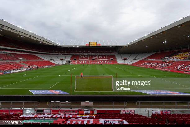 A general view of the ground before the Sky Bet League 1 match between Sunderland and Portsmouth at the Stadium Of Light Sunderland on Saturday 24th...