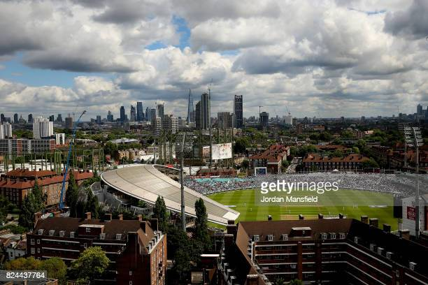 A general view of the ground during day four of the 3rd Investec Test match between England and South Africa at The Kia Oval on July 30 2017 in...