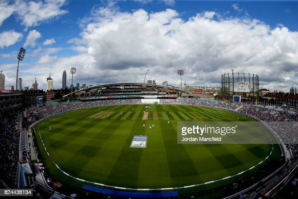 General view of the ground during day four of the 3rd Investec Test match between England and South Africa at The Kia Oval on July 30, 2017 in...