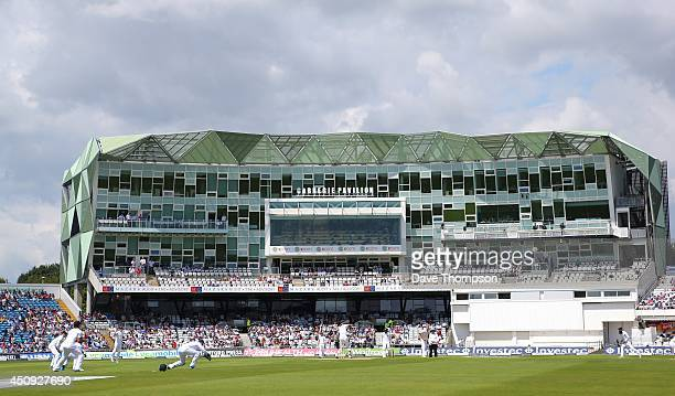 A general view of the ground during day one of 2nd Investec Test match between England and Sri Lanka at Headingley Cricket Ground on June 20 2014 in...