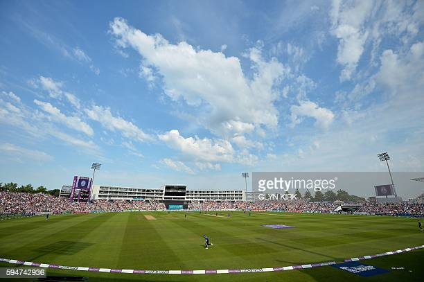General view of the ground during play in the first one day international cricket match between England and Pakistan at The Ageas Bowl cricket ground...