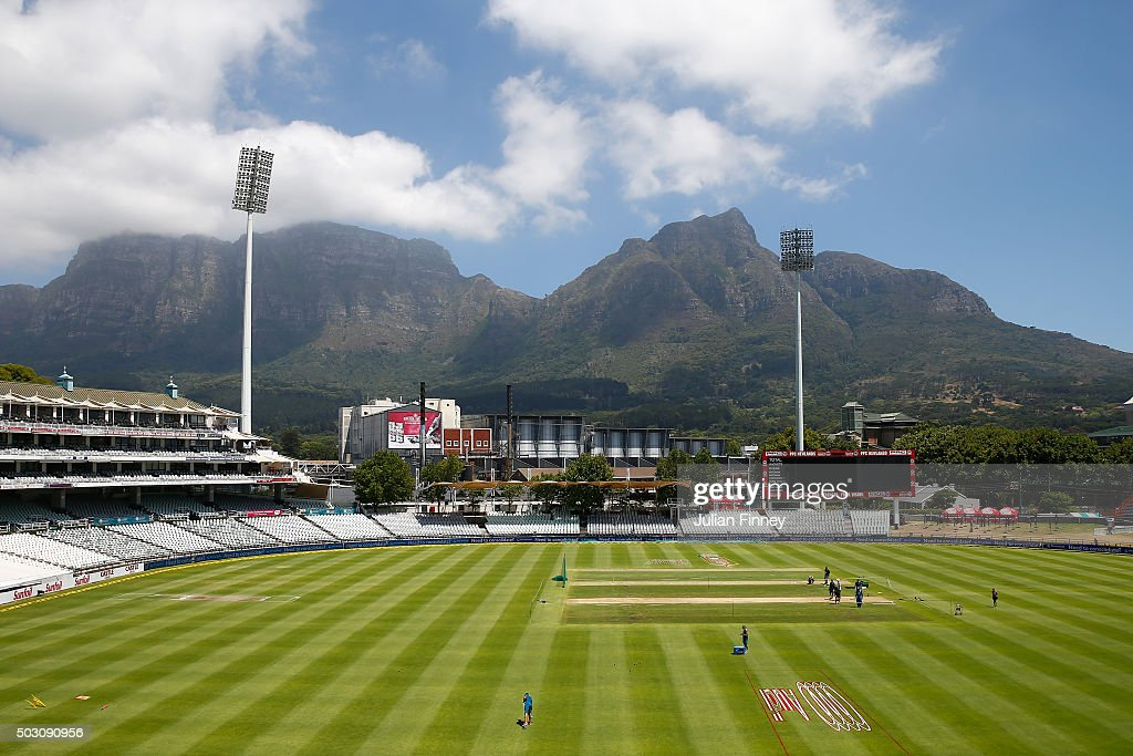 A general view of the ground during South Africa media access at Newlands on January 1, 2016 in Cape Town, South Africa.
