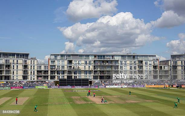 A general view of the ground during the 1st Natwest International T20 played between England Women and Pakistan Women at The County Ground on July 3...
