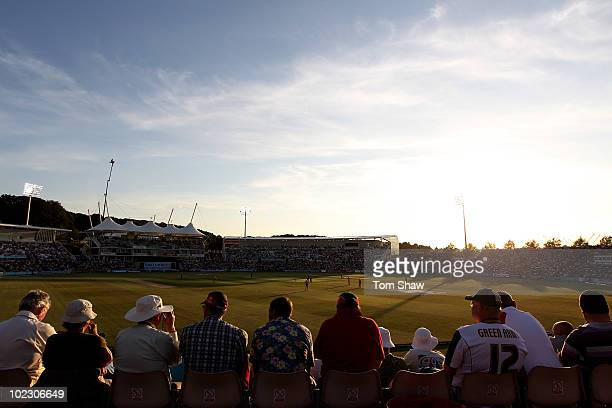 A general view of the ground during the 1st Natwest One Day International between England and Australia at the Rosebowl on June 22 2010 in...