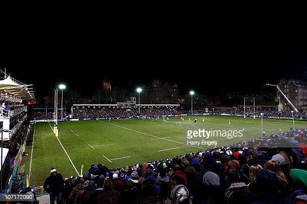 A general view of the ground during the Aviva Premiership game between Bath and London Wasps at The Recreation Ground on November 27 2010 in Bath...