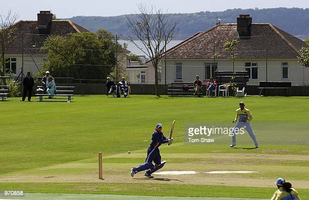 A general view of the ground during the England Womens v Indian Womens One Day International match at Grainville Cricket Ground St Helier Jersey on...