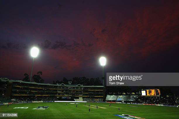 A general view of the ground during the ICC Champions Trophy group B match between Sri Lanka and England at Wanderers Stadium on September 25 2009 in...