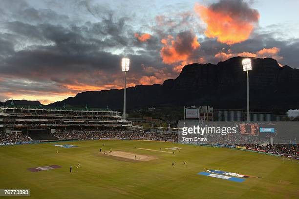 A general view of the ground during the ICC Twenty20 World Championship match between South Africa and Bangladesh at Newlands Cricket Ground on...