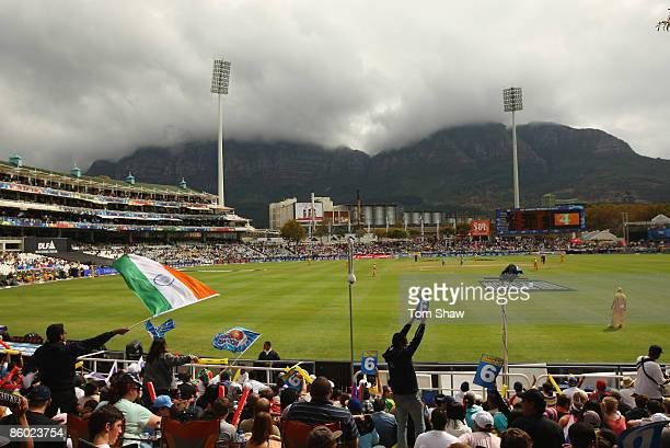 A general view of the ground during the IPL T20 match between Mumbai Indians and Chennai Super Kings at Newlands Cricket Ground on April 18 2009 in...