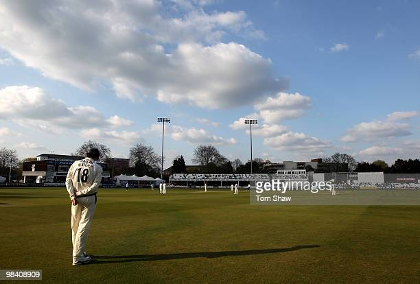 General view of the ground during the LV County Championship match between Essex and Hampshire at the County Ground on April 12, 2010 in Chelmsford,...