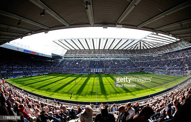 A general view of the ground during the Premier League match between Newcastle United and Fulham at the St James Park on August 31 2013 in...