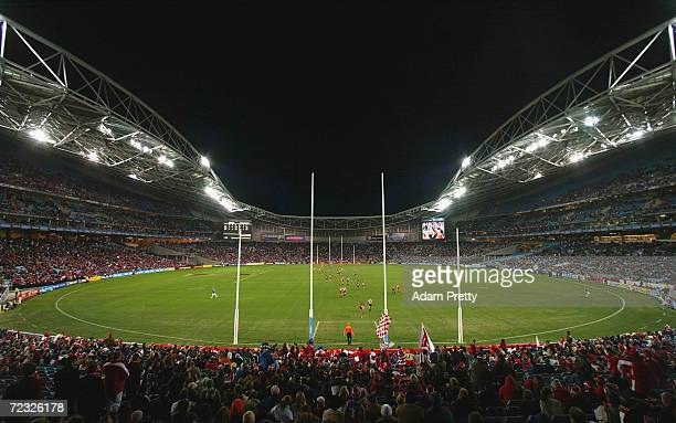 General View of the ground during the round 13 AFL match between the Sydney Swans and the Collingwood Magpies at the Telstra Stadium June 26, 2004 in...