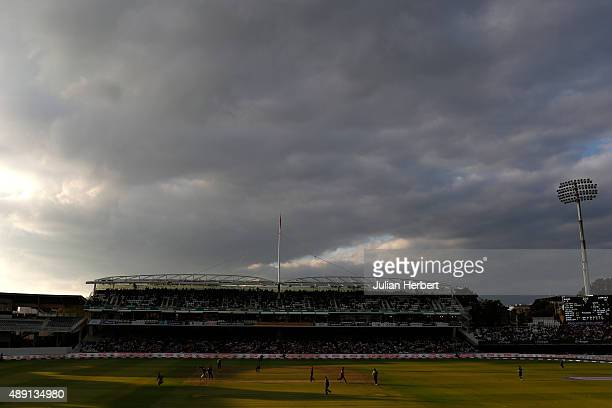 A general view of the ground during the Royal London OneDay Cup Final between Surrey and Gloustershire at Lord's Cricket Ground on September 19 2015...