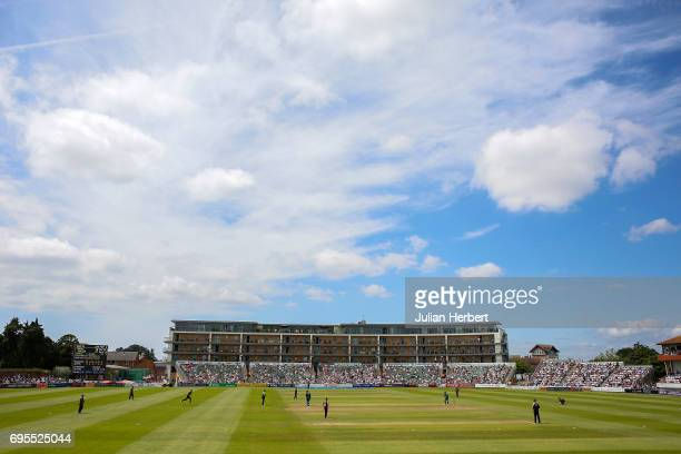 A general view of the ground during The Royal London OneDay Cup Play Off match between Somerset and Nottinghamshire Outlaws at The Cooper Associates...