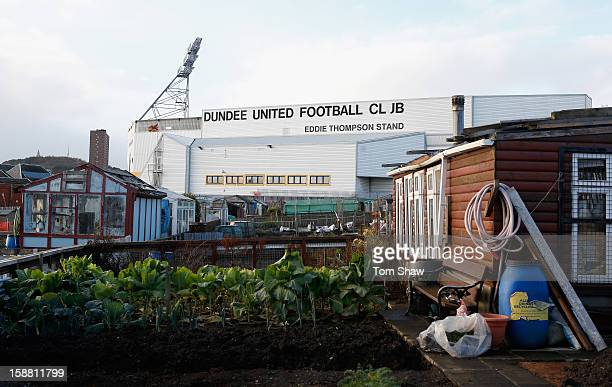 A general view of the ground during the Scottish Premier League Match between Dundee United and St Mirren at Tannadice Park on December 30 2012 in...