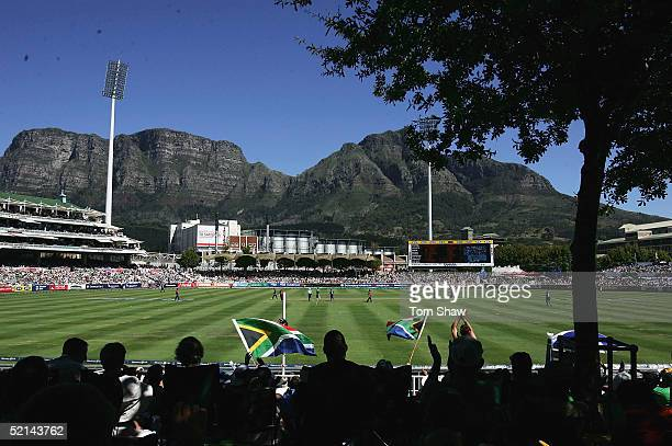 A general view of the ground during the South Africa v England 4th One Day International match on February 6 2005 at Newlands Cape Town South Africa