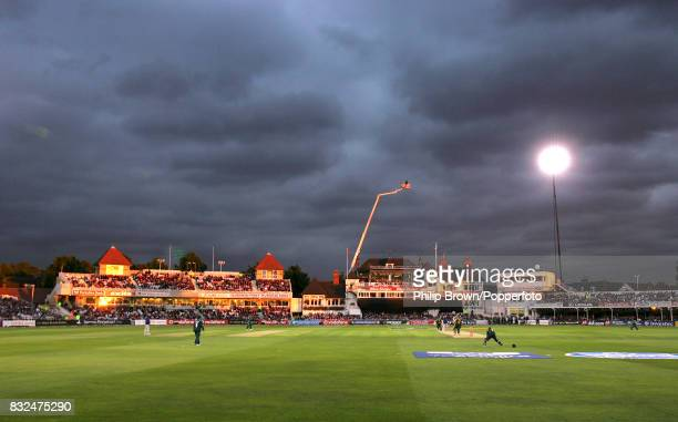 A general view of the ground during the Twenty20 Cup FInal between Leicestershire and Nottinghamshire at Trent Bridge Nottingham 12th August 2006