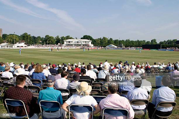 General view of the ground during the Twenty20 Cup match between Kent Spitfires and Hampshire Hawks on June 16, 2003 in Beckenham, England.