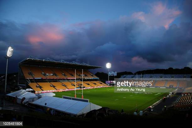 General view of the ground is seen prior to the round 25 NRL match between the New Zealand Warriors and the Canberra Raiders at Mt Smart Stadium on...