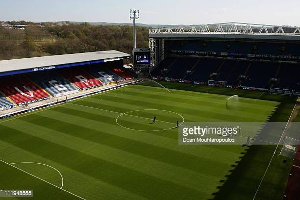 A general view of the ground prior to the Barclays Premier League match between Blackburn Rovers and Birmingham City at Ewood park on April 9 2011 in...