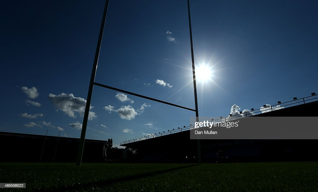 A general view of the ground prior to the Singha Premiership Rugby 7s Series Final at Twickenham Stoop on August 28, 2015 in London, England.
