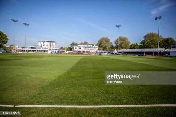 General view of the ground prior to the Specsavers County Championship Division One match between Essex and Nottinghamshire at Cloudfm County Ground...
