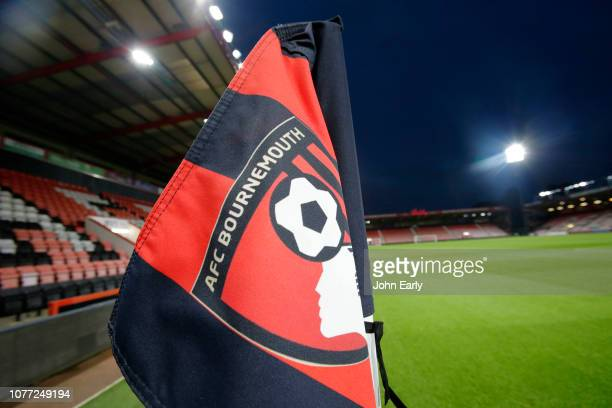A general view of the ground with the corner flag in the foreground before the Premier League match between AFC Bournemouth and Huddersfield Town at...