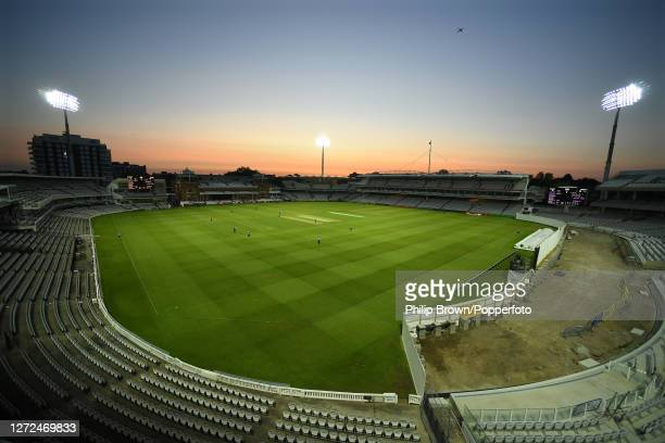 General view of the ground without spectators during the Vitality T20 Blast match between Middlesex and Surrey at Lord's Cricket Ground on September...