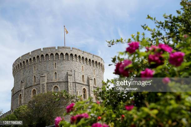 General view of the grounds at Windsor Castle during its reopening on July 23, 2020 in Windsor, England. In line with government guidelines members...