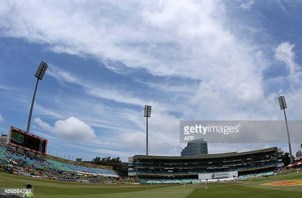 General view of the grounds on the third day of the second and final Test between South Africa and India at Kingsmead in Durban on December 28 2013...