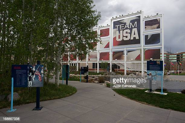 General view of the grounds outside the visitor center at the United States Olympic Training Center on May 15 2013 in Colorado Springs Colorado