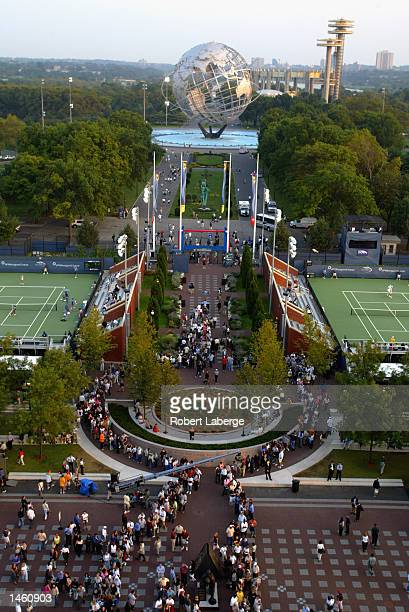 A general view of the grounds taken during the US Open on September 3 2002 at the USTA National Tennis Center in Flushing Meadows Corona Park in...