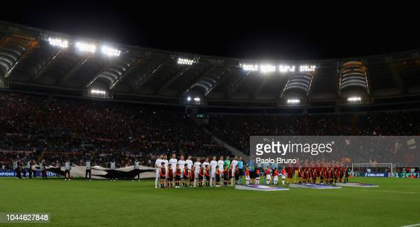 A general view of the Group G match of the UEFA Champions League between AS Roma and Viktoria Plzen at Stadio Olimpico on October 2 2018 in Rome Italy