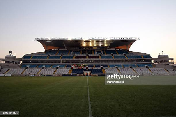 General view of the GSP stadium before the UEFA Champions League play-offs second leg match between APOEL and Aalborg at the GSP Stadium on August...