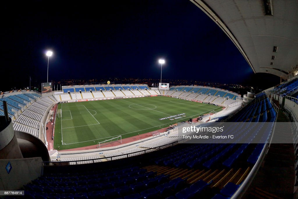 A general view of the GSP Stadium before the UEFA Europa League Group E match between Apollon Limassol and Everton at GSP Stadium on December 7, 2017 in Nicosia, Cyprus.