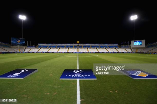 General view of the GSP Stadium during the UEFA Champions League Group H match between Apoel Nicosia and Tottenham Hotspur at GSP Stadium on...