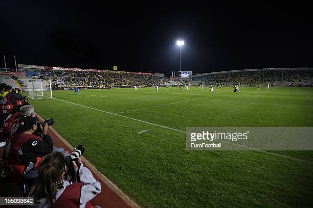 General view of the GSP Stadium home of AEL Limassol FC taken during the UEFA Europa League group stage match between AEL Limassol FC and Fenerbahce...