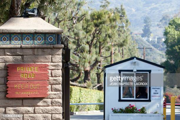 A general view of the guard cabin at the entrance of the gated neighborhood where Meghan Markle and Prince Harry are looking to establish their...