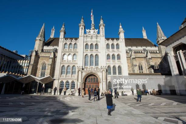 General view of the Guildhall in Guildhall Yard built between 1411 and 1440 on January 28, 2019 in London, England.
